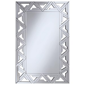 Geometric Wall Mirror with Mirrored Frame