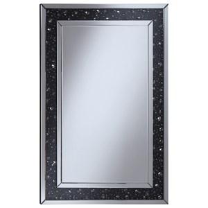 Wall Mirror with Black Jewel Frame