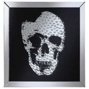 Wall Mirror with Jeweled Skull