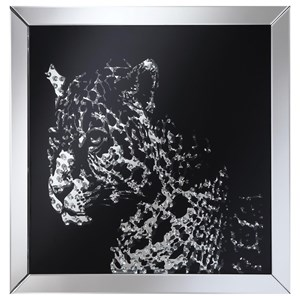 Wall Mirror with Image of Leopard