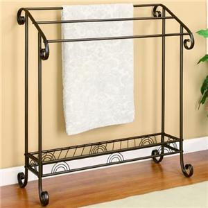 Dark Bronze Metal Towel Rack