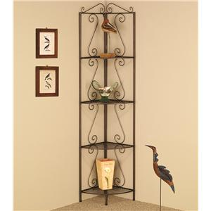 Coaster Accent Racks Copper Corner Shelf