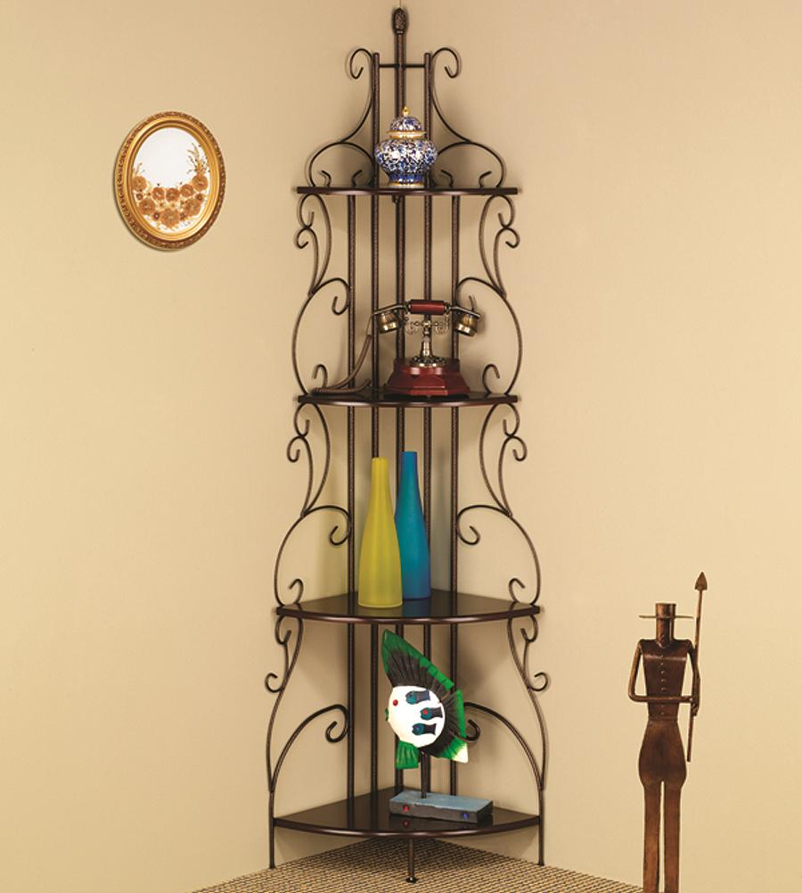 Accent Racks Copper Corner Rack by Coaster at Lapeer Furniture & Mattress Center