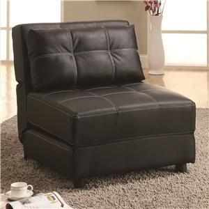 Contemporary Armless Lounge Chair/Sofa Bed