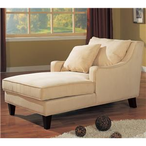 Microfiber Chaise Lounge