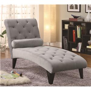 Velour Tufted Chaise