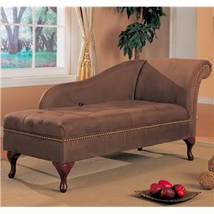 Golden toned accent chaise with elegant traditional style for Accent traditional chaise by coaster