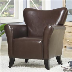 Contemporary Vinyl Upholstered Chair