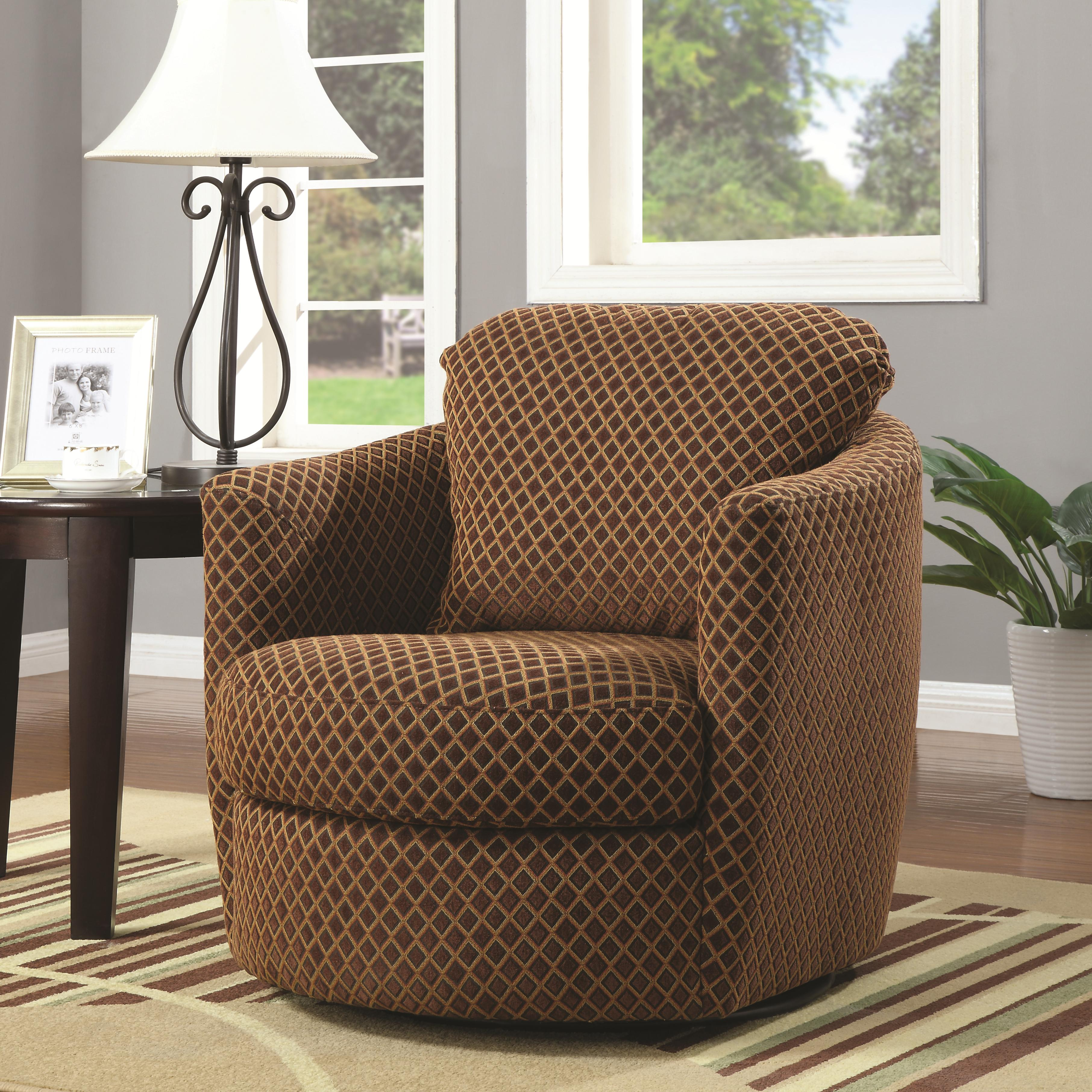 Accent Seating Swivel Chair by Coaster at Lapeer Furniture & Mattress Center