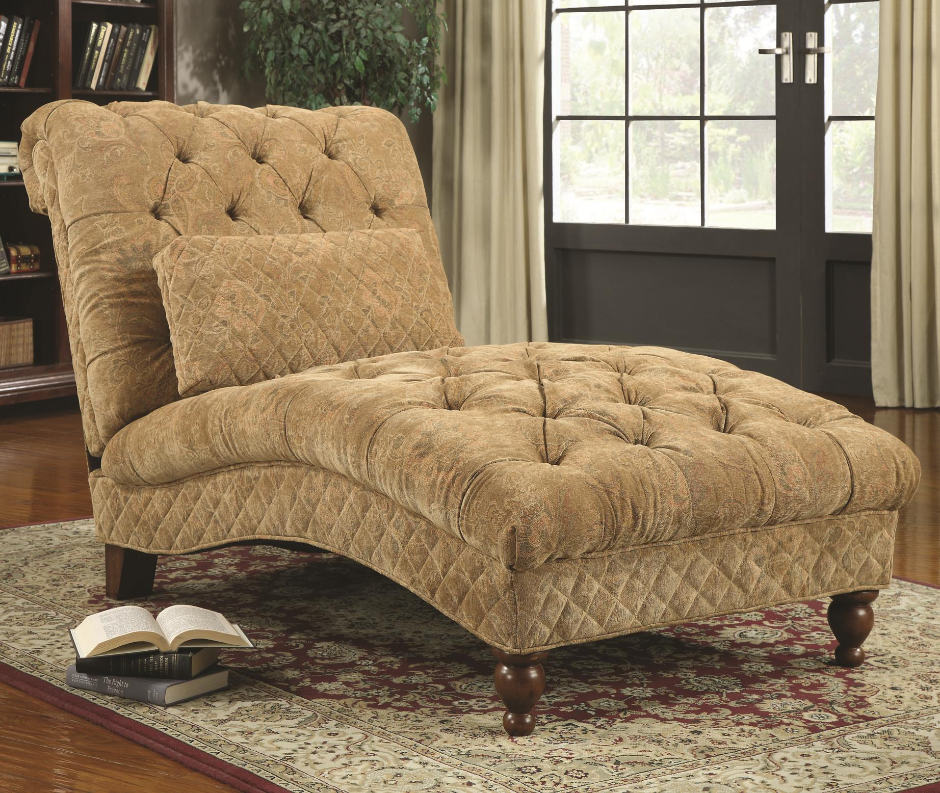 Accent Seating Chaise by Coaster at Lapeer Furniture & Mattress Center