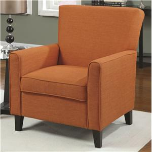 Orange Accent Chair with Contemporary Furniture Style