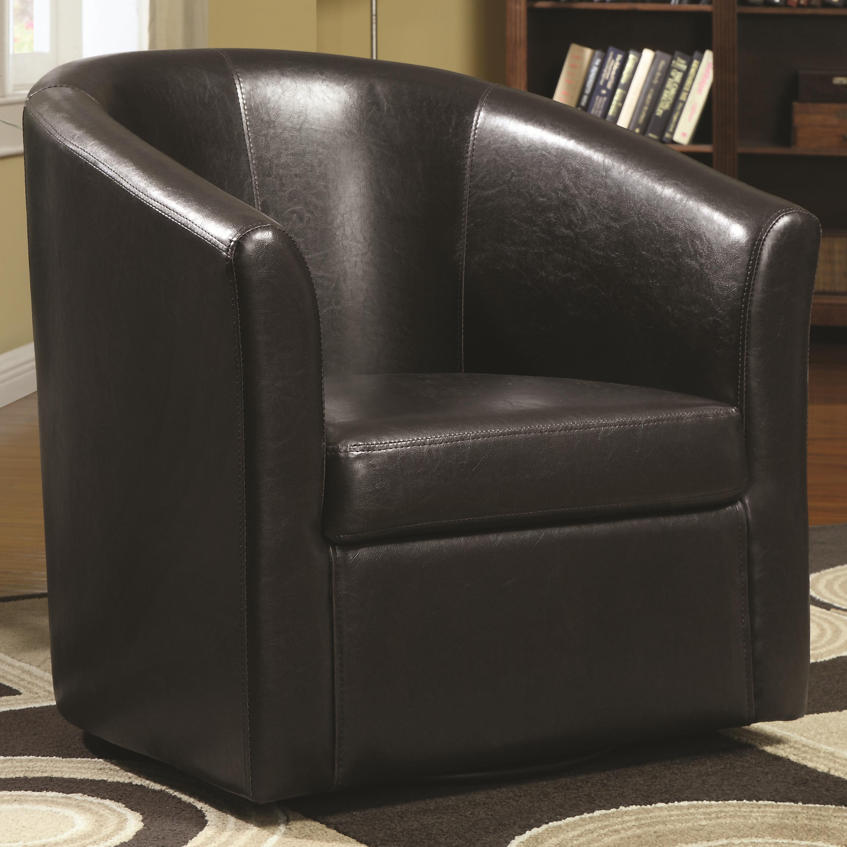 Accent Seating Swivel Accent Chair by Coaster at Nassau Furniture and Mattress