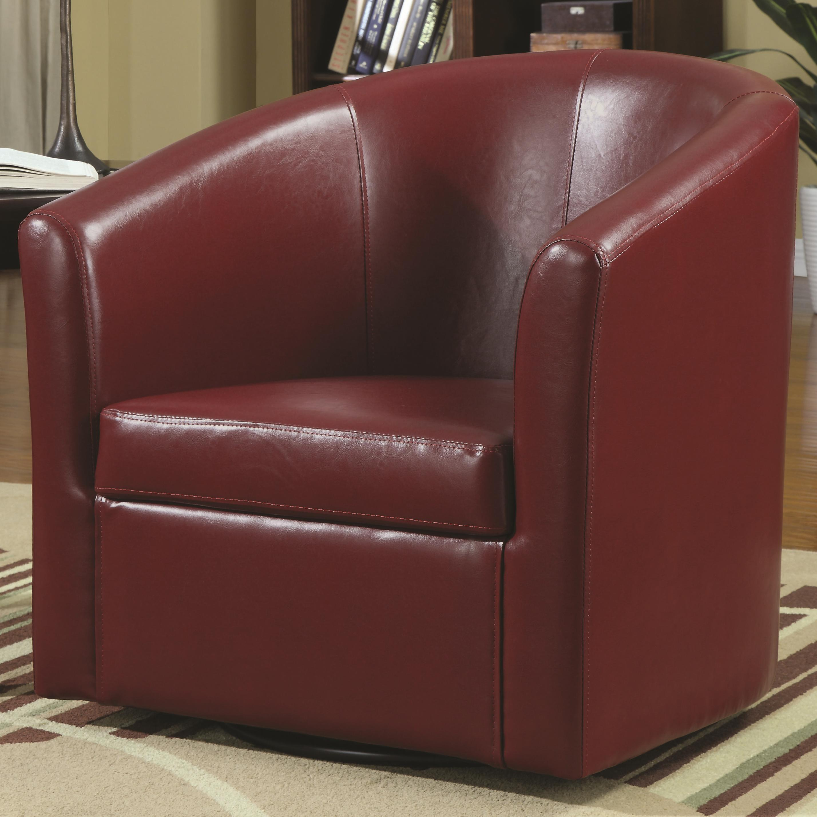 Accent Seating Swivel Accent Chair by Coaster at Lapeer Furniture & Mattress Center