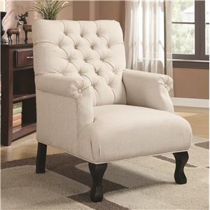 Traditional Button-Tufted Accent Chair