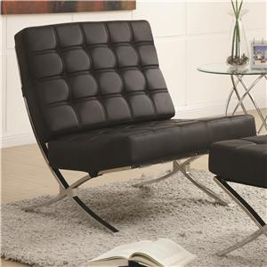Contemporary Waffle Accent Chair