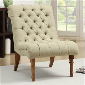 Tufted Accent Chair without Arms