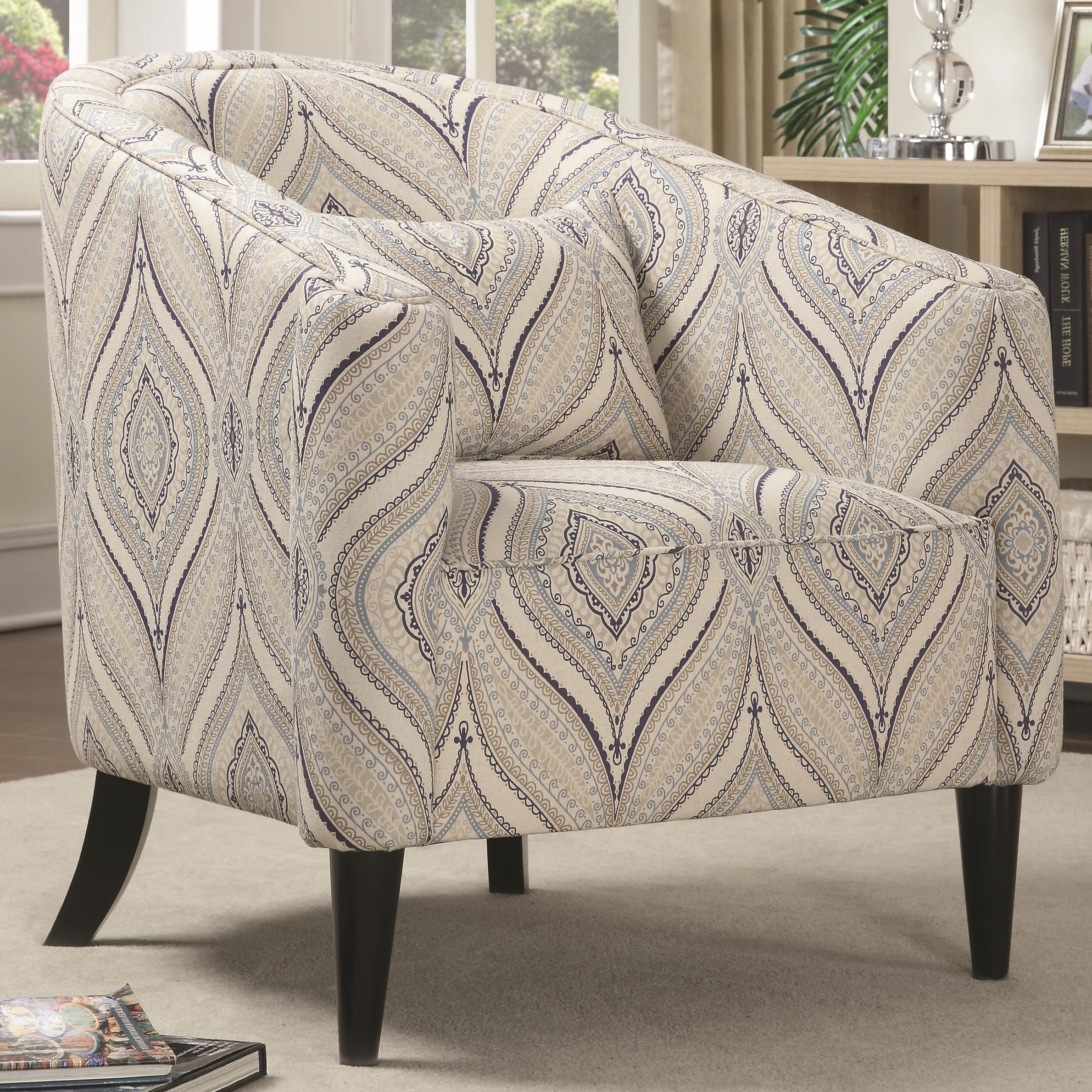 Accent Seating Upholstered Chair by Coaster at Lapeer Furniture & Mattress Center