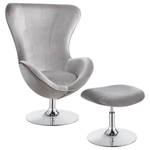 Contemporary Chair With Ottoman