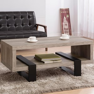 Modern Open Shelf Coffee Table