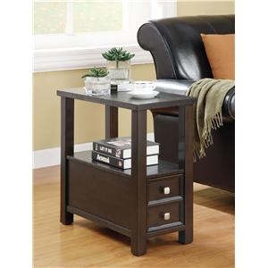 Casual 1-Drawer 1-Shelf Chairside Table