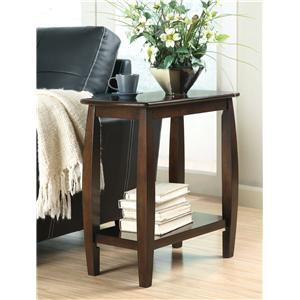 Contemporary Bowed Leg Chairside Table