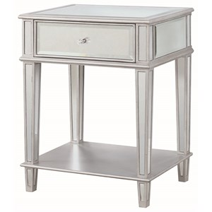 Accent Table with Mirrored Finish