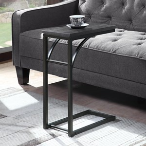 Industrial Black Accent Table
