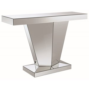 Pedestal Contemporary Console Table