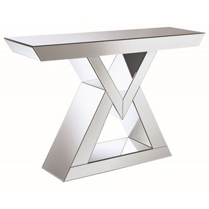 Contemporary Console Table with Triangle Base