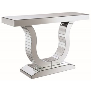 Glam Mirrored Console Table