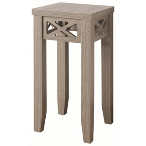 Accent Table with Triangle Trim Accent