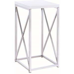 Contemporary Accent Table with X-Base