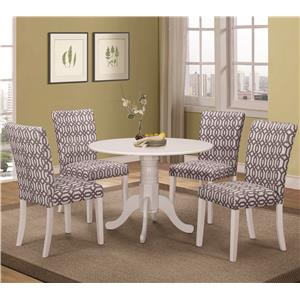 Coaster Allston 5 Pc Table & Chair Set