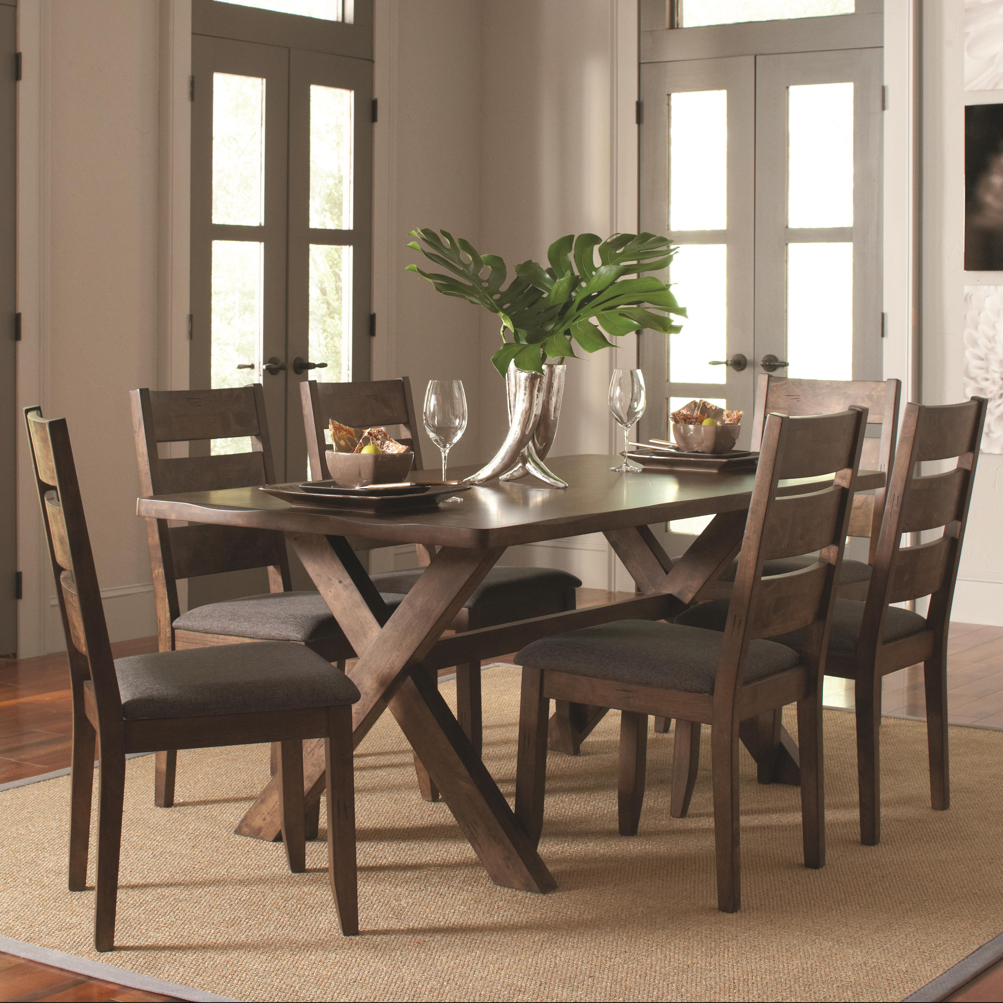 Alston 7 Pc Table & Chair Set by Coaster at Lapeer Furniture & Mattress Center