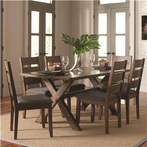 Rustic 7 Pc Table & Chair Set