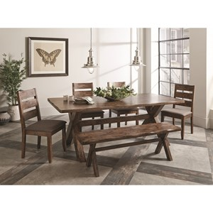 Coaster Alston Dining Set with Bench