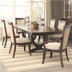 Dining Table and 4 Side Chair and 2 Arm Chair Set