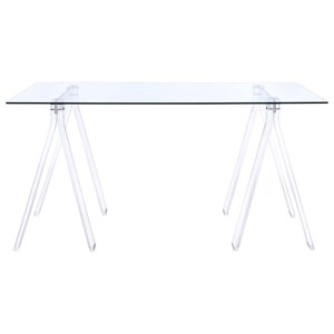 Acrylic Sawhorse Writing Desk