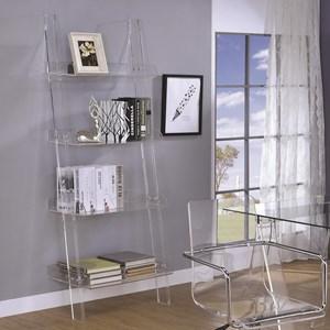 Acrylic Ladder Bookcase