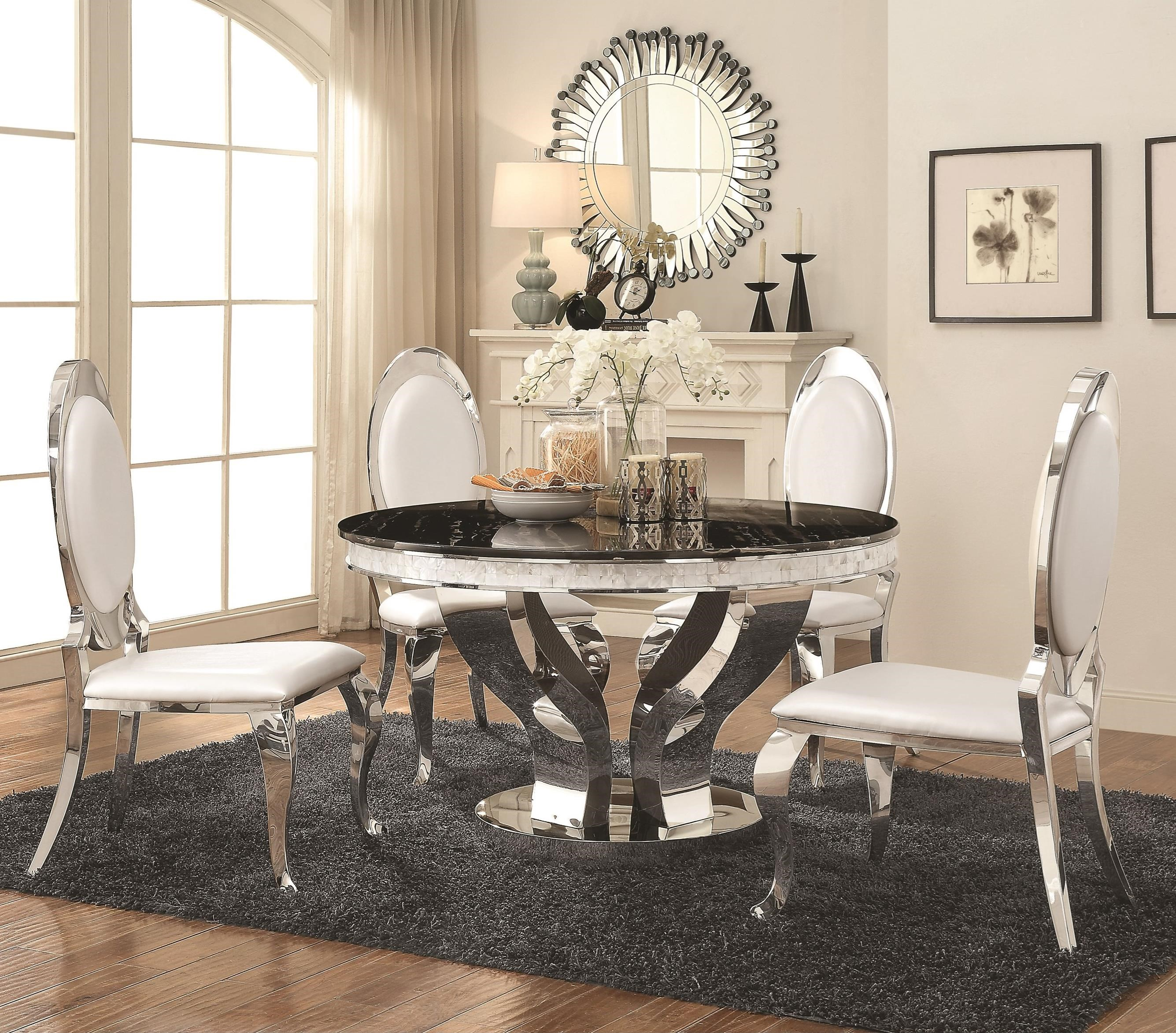 Anchorage 5 Piece Dining Table Set by Coaster at Rife's Home Furniture