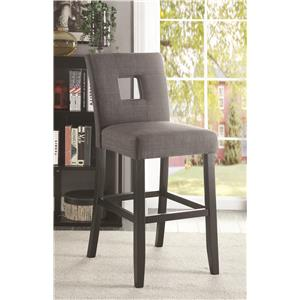Counter Height Chair with Square Cutout in Seat Back
