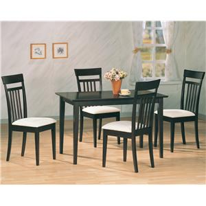 5 Piece Dining Set with Upholstered Chairs