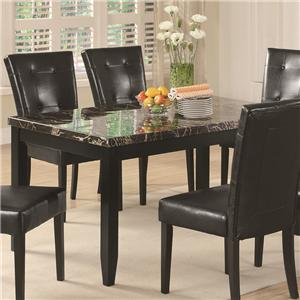 Dining Table with Black Faux Stone Top