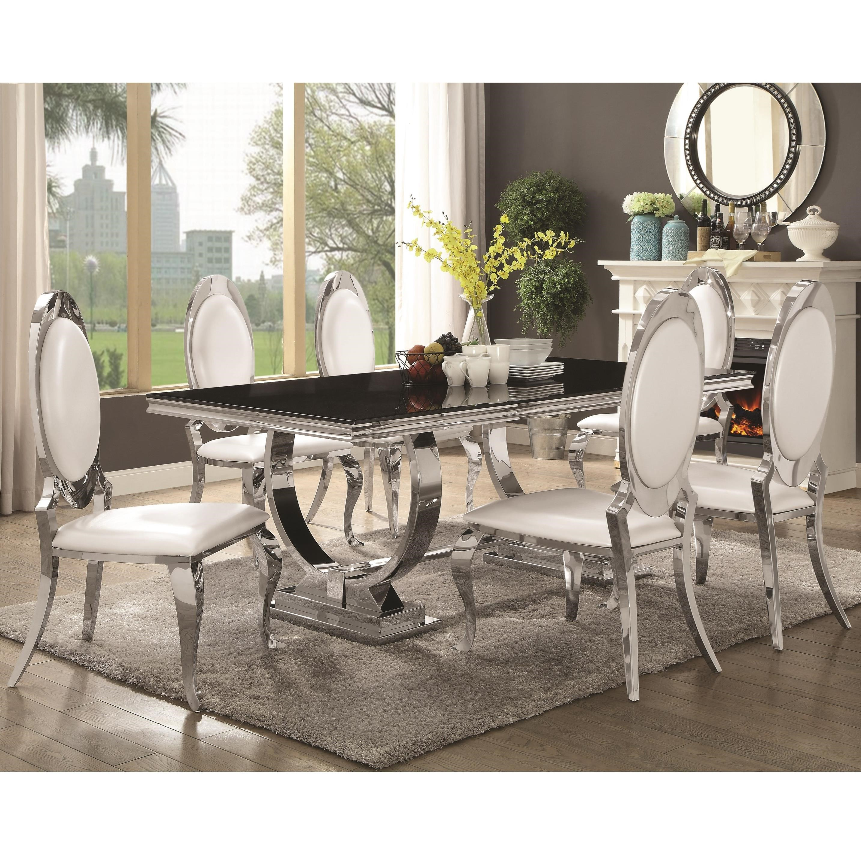 Antoine 7 Piece Dining Set by Coaster at Northeast Factory Direct