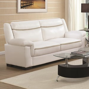 Contemporary Leatherette Sofa