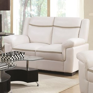 Contemporary Leatherette Loveseat