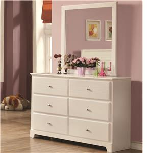Dresser and Mirror with 6 Drawers