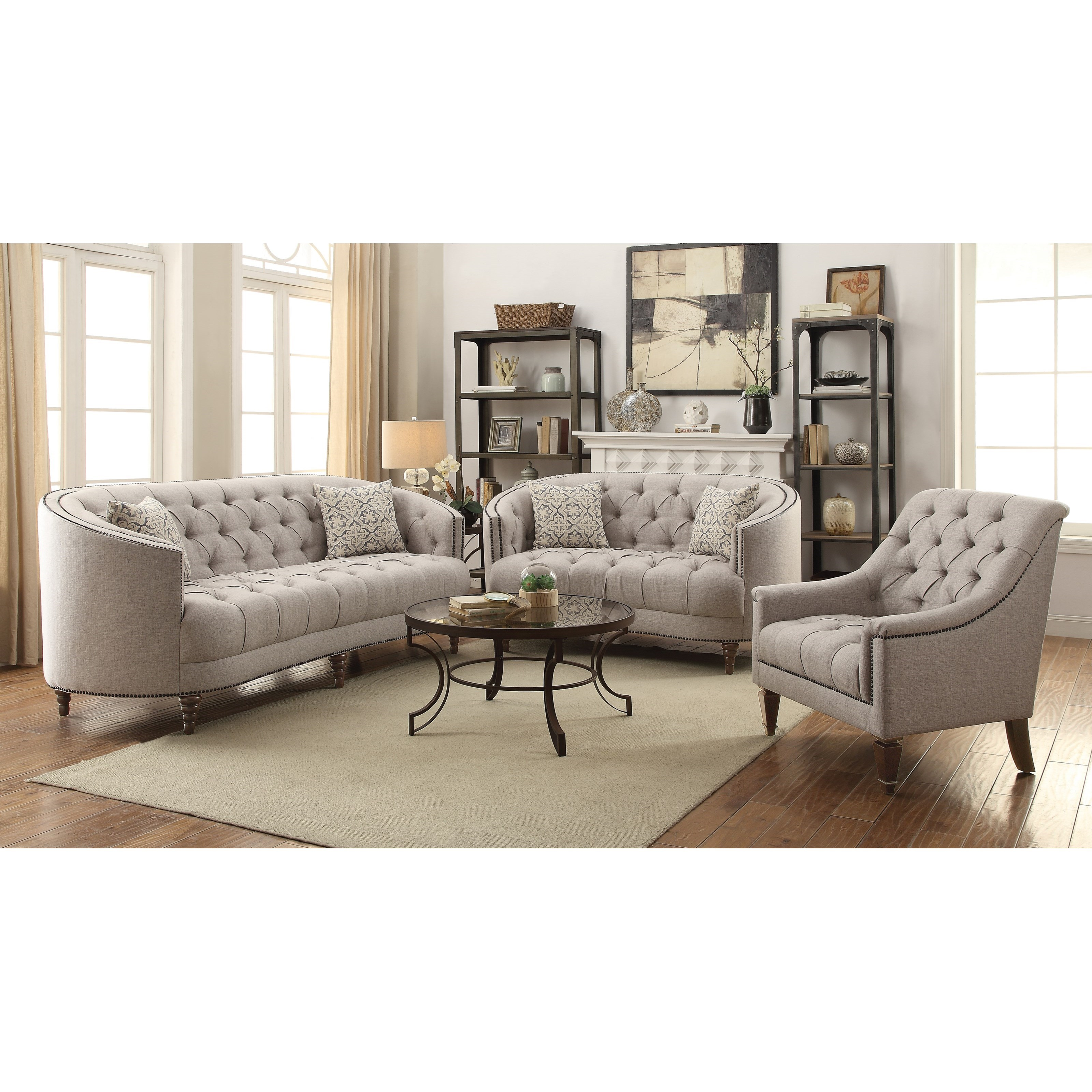 Avonlea Stationary Living Room Group by Coaster at Rife's Home Furniture