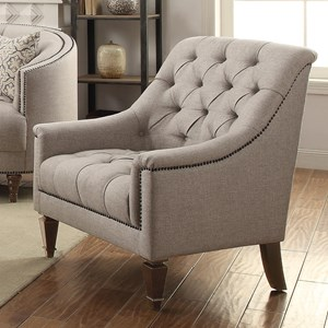 Upholstered Chair with Heavy Tufting
