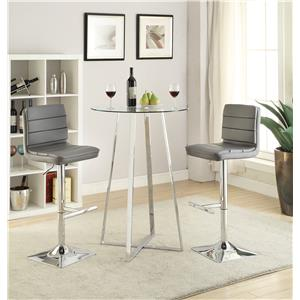 Glass Bar Height Dining Set